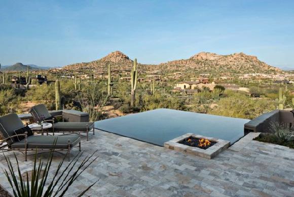 Outdoor fireplace - HMH Architecture + Interiors - Colorado Architect
